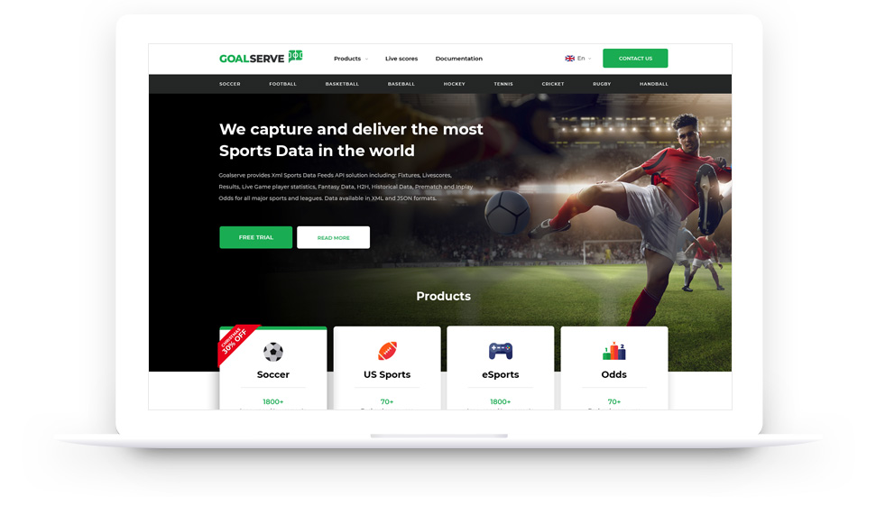 Goalserve sport data feed api provider